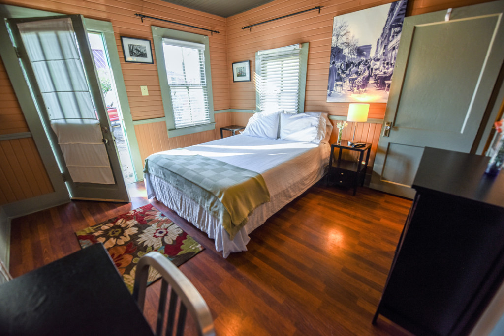 The cozy vintage cabins at the 3-V Tourist Court next door offer a great home base for exploring the town.