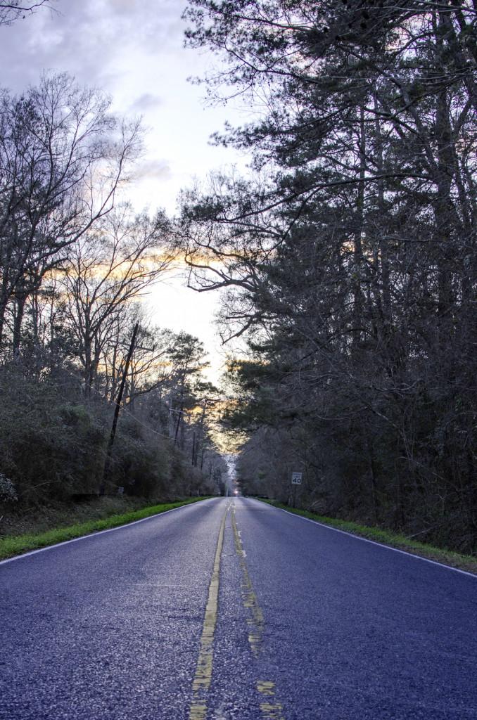 Hoo Shoo Too Road, 2/6/16, road at sunset