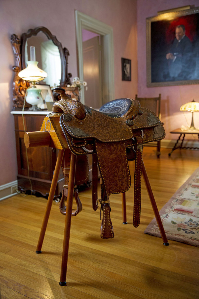 The song was an ode to Davis' horse Sunshine. The horse's original saddle is on display at the Old Governor's Mansion.