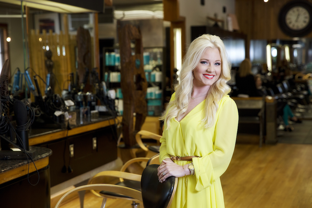 Kirby Guidry, a stylist at Rigsby Frederick Salon & Gallery