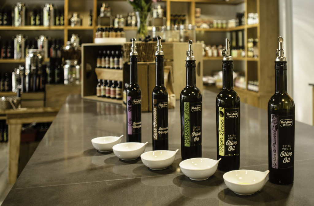 The expanded olive oil tasting bar