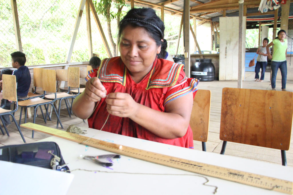 Felicia, one of the Guaymi women who works for Hands Producing Hope. Photo courtesy Hands Producing Hope
