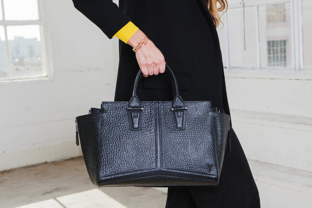 R3FORM's Hyde Signature Tote, $298, and Knotted Needle Bracelets, $48