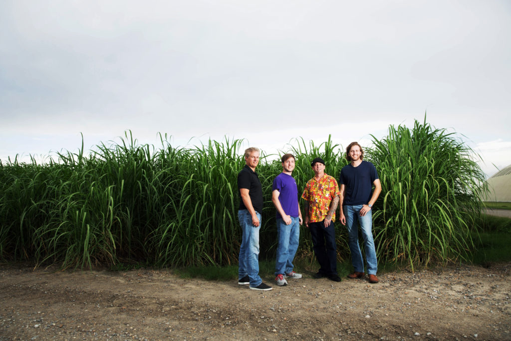 From left, Walter Tharp, Dylan Bernard, Jonny Ver Planck and John Landry of Cane Land Distilling Company plan to use sugar cane grown in Pointe Coupee Parish and distilled at a downtown facility to make their unique rum. Photo by Stephanie Landry