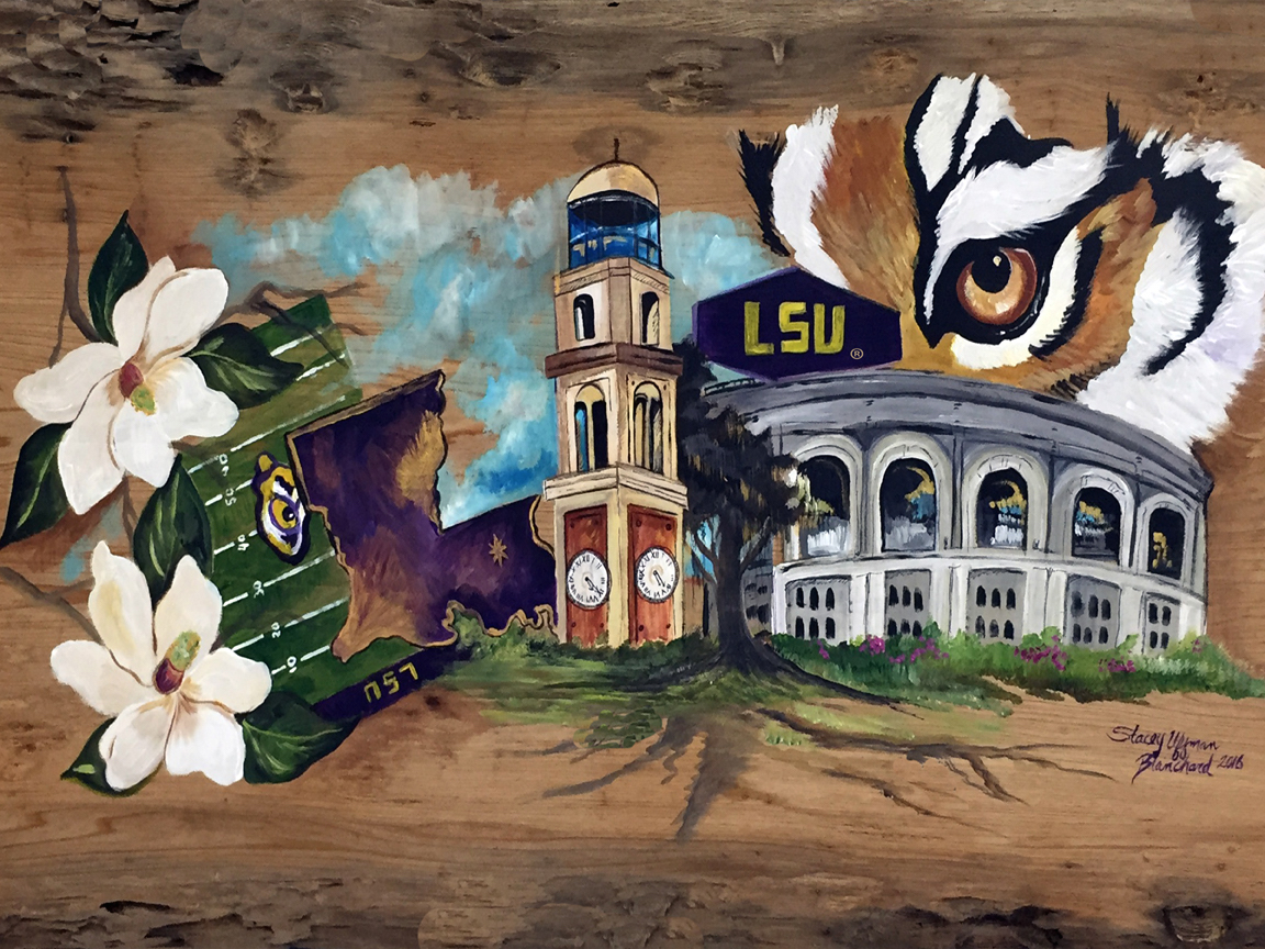 Local Artists Share How Lsu Football Inspires Their Work