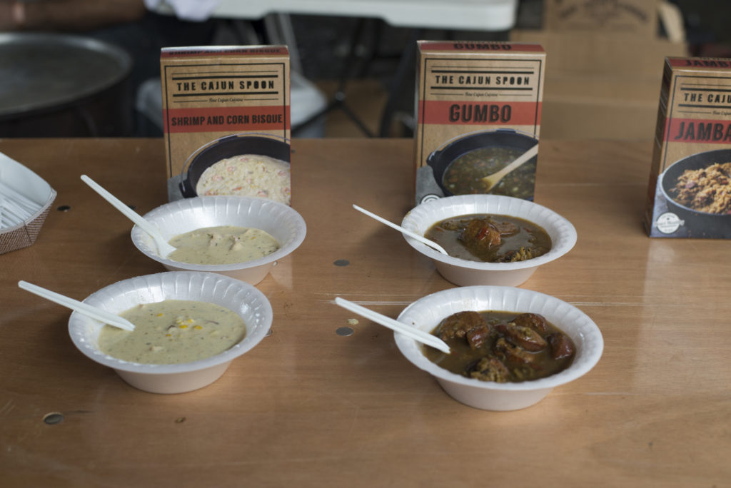 The Cajun Spoon offered up samples of gumbo, jambalaya and bisque during the event.