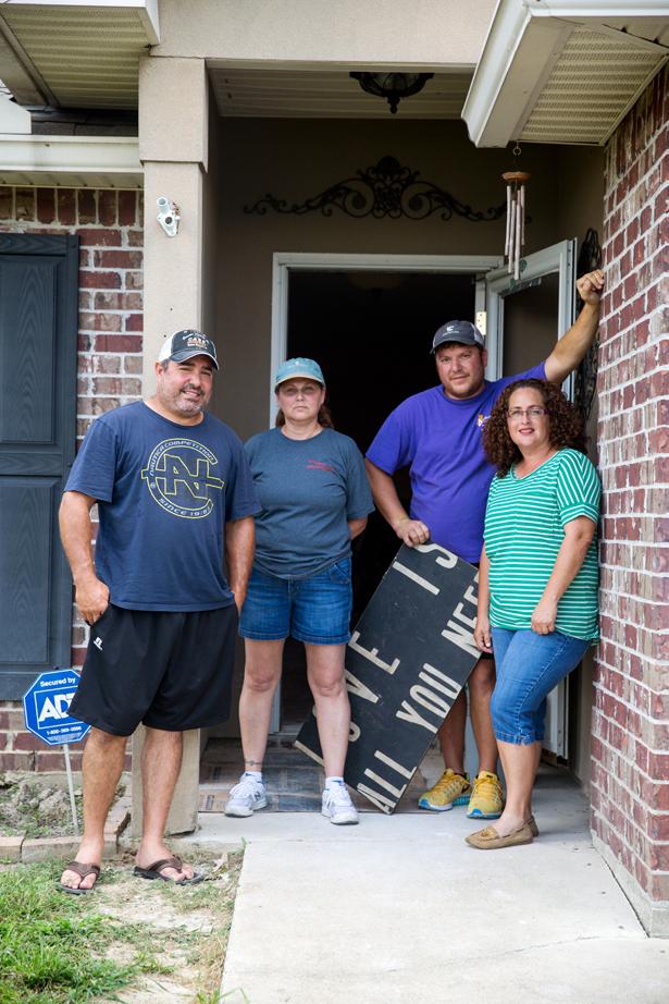 Keith Martine, Mary Jones, Dustin Clouatre, and Amy Daigle. Photo by David Morris.