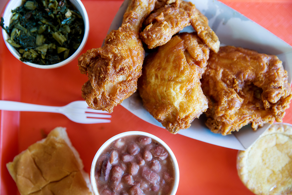 Chicken Shack, side of collared greens and red beans, 11.9.16