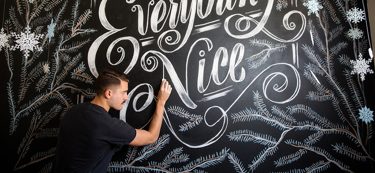 Graphic Designers Skill With Lettering Seen All Over Town