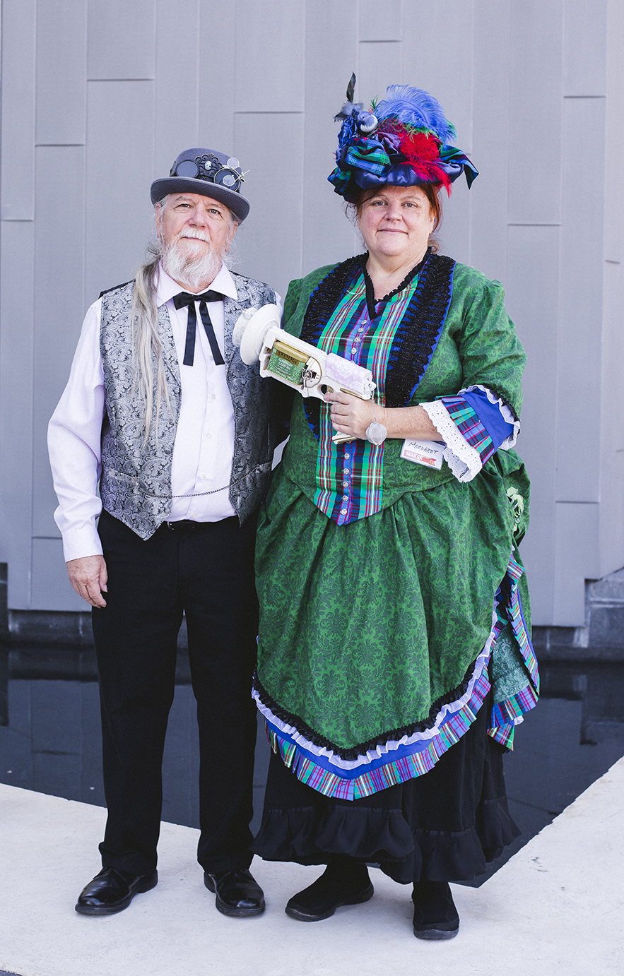 Margaret Lipscomb and Louis Lipscomb (Baton Rouge Area Steampunk Society). Photo by Allie Appel.