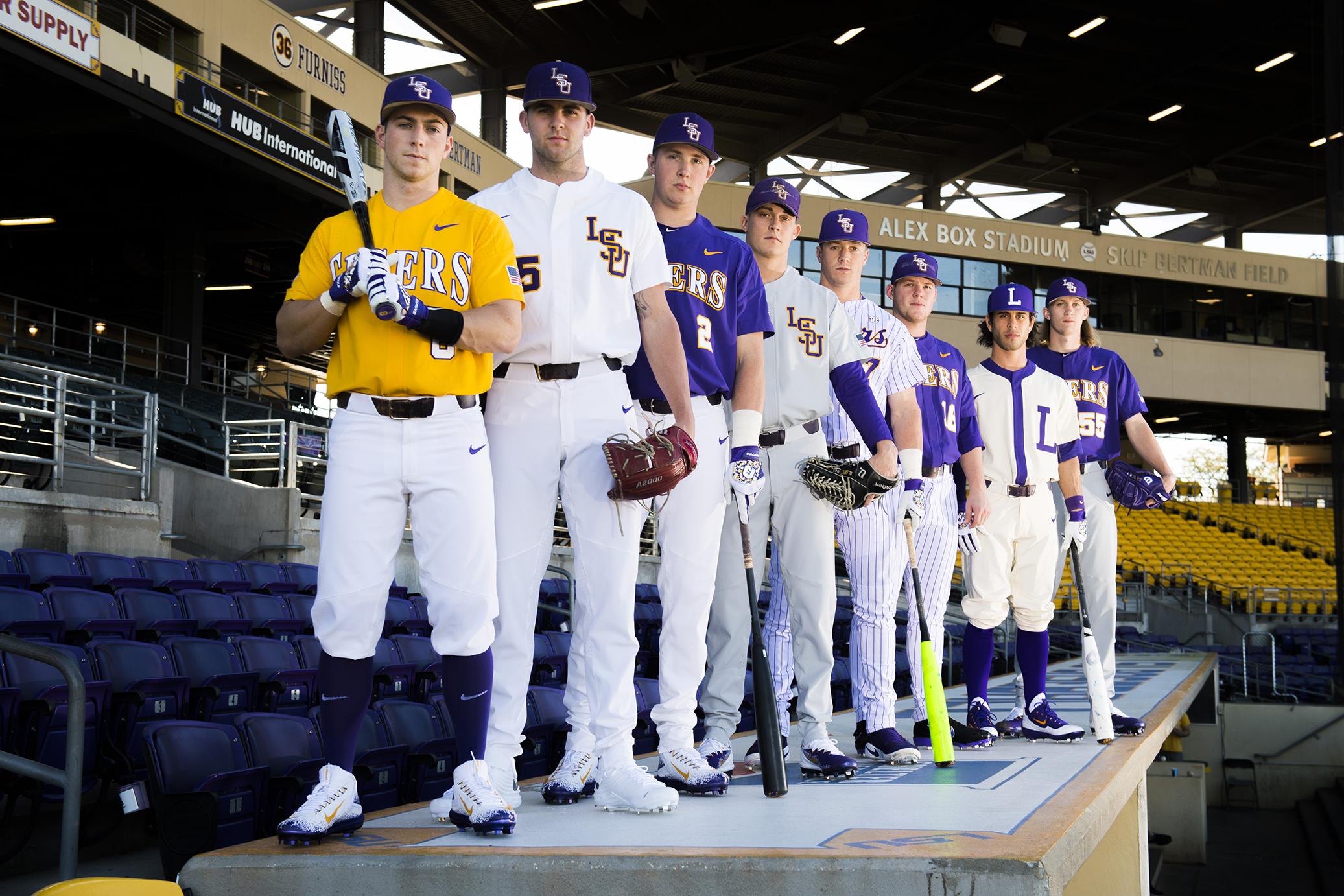 a look at this season s lsu baseball uniforms and the historic rh 225batonrouge com