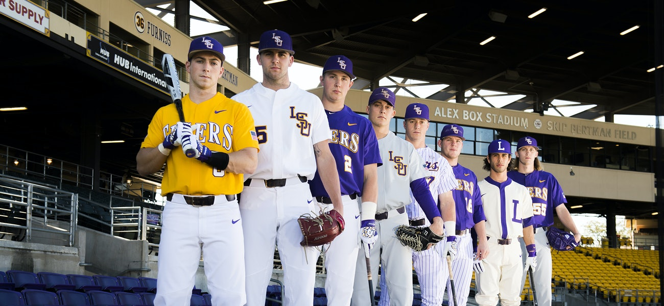 sports shoes 9a90a 79860 A look at this season's LSU Baseball uniforms—and the ...