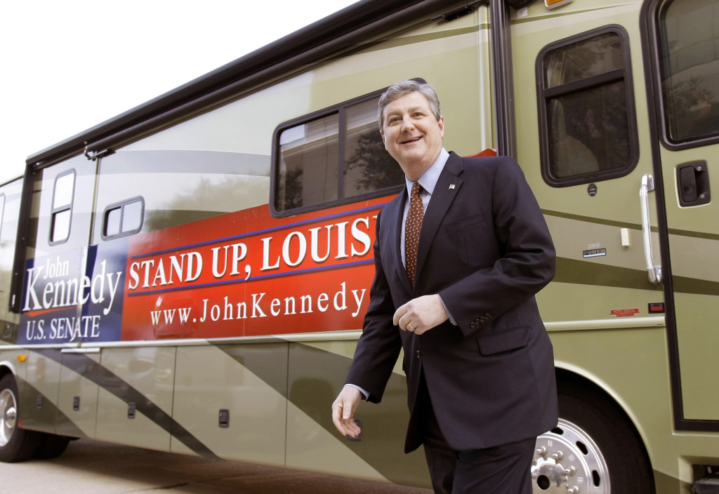 (AP Photo) John Kennedy during his unsuccessful Senate run in 2008.