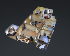 3-D image of a home for sale by real estate broker Darren James.