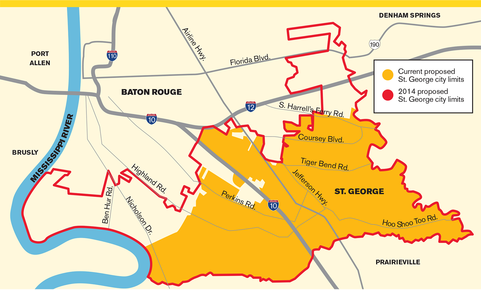 Baton Rouge and St  George seem headed for a nasty divorce - Baton