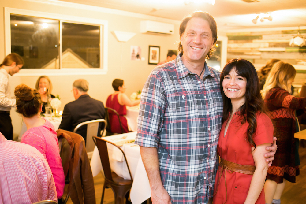 Magpie owners Lina and James Jacobs pulled out all the romantic stops at a recent supper social held on Valentine's night. (Photo by Jenn Ocken)