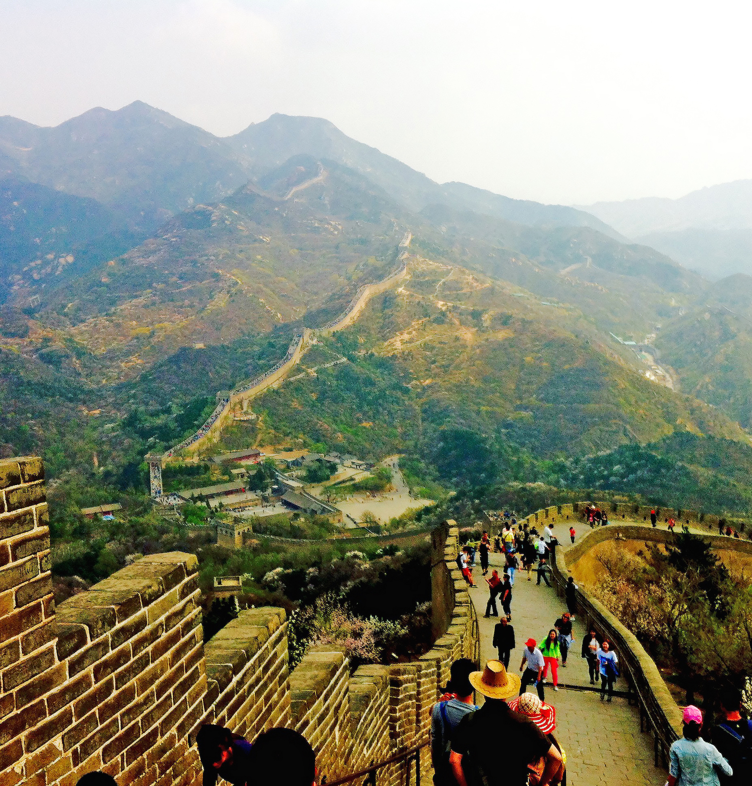 Another item on Clements' bucket list was to stand on the Great Wall of China.