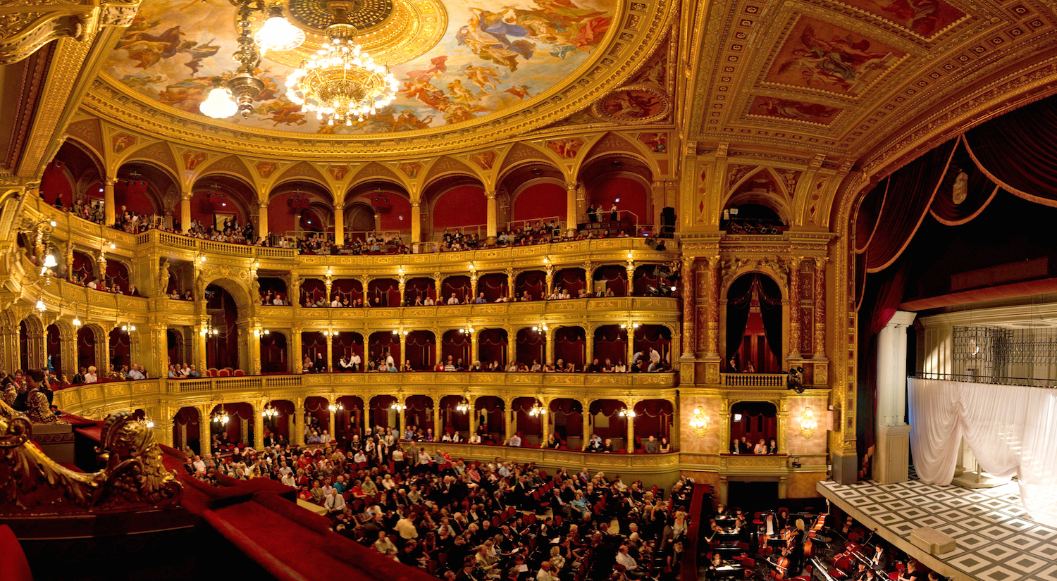 At the Hungarian State Opera House in Budapest, Clements noted that luxury doesn't have to come with a hefty price tag. A ticket for a box seat to The Nutcracker cost her only $30.