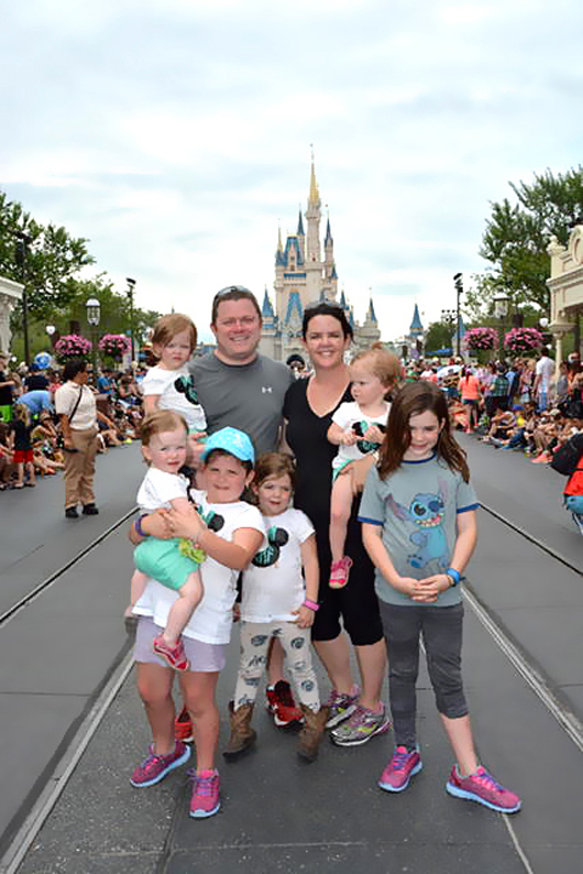 """Disney is a strenuous trip,"" writes Chrissy on her blog, Roussel Six Pack. ""You should prepare for it by strapping all your children and luggage to you and running around your yard."""