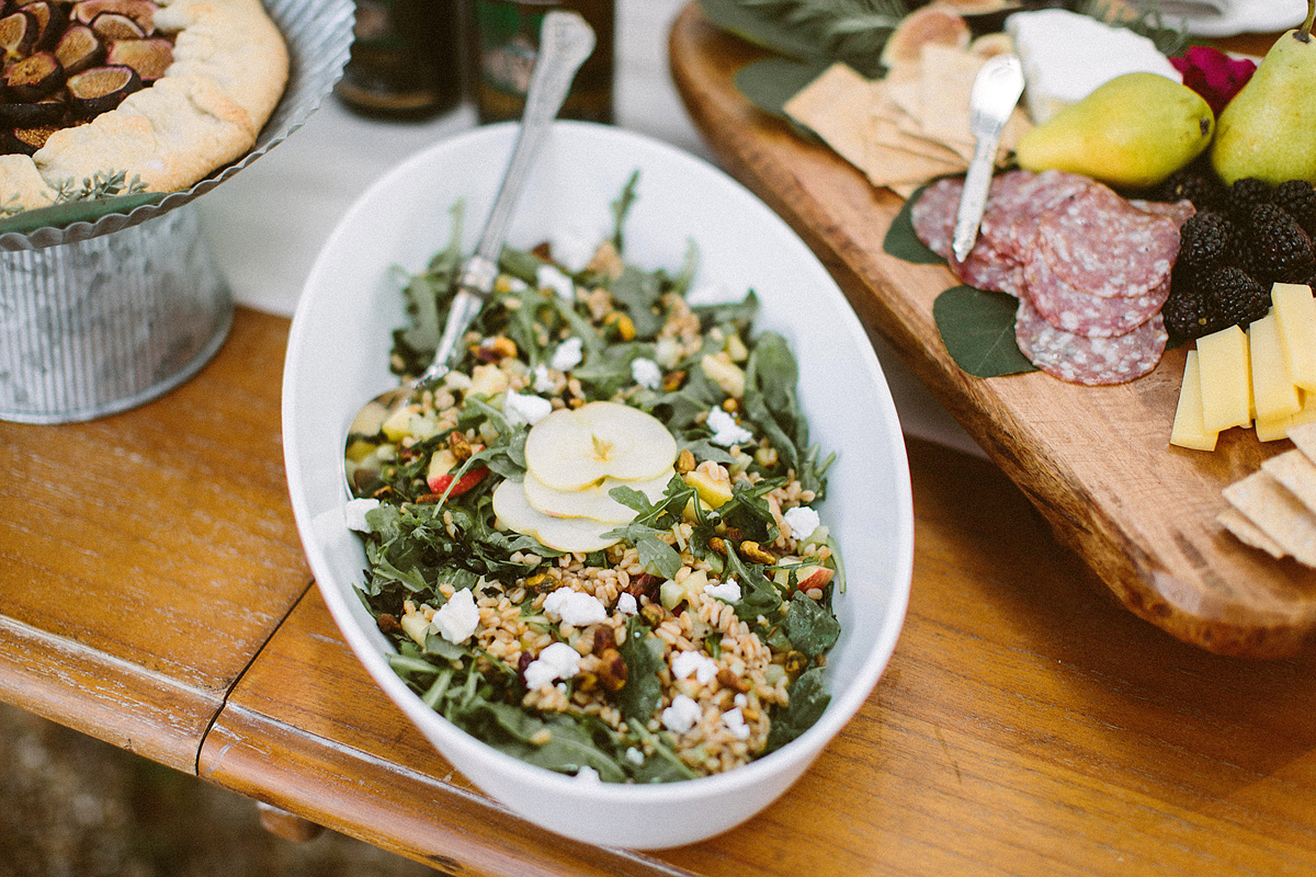 Farro and Arugula Salad With Cherries