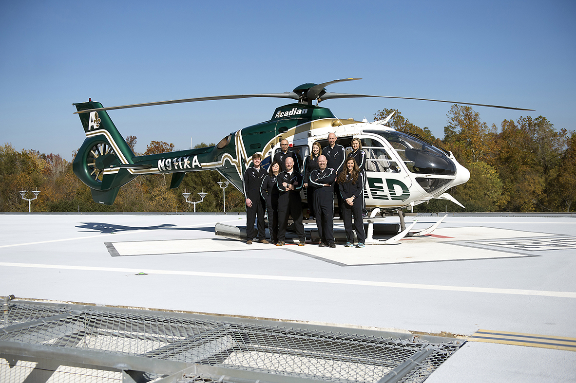Whether aboard this twin-engine EC 135 helicopter outfitted with medical gear or on a King Air B200 twin turbo prop plane or a Learjet 45 for longer distances, the Pediatric Critical Care Transport Team wears flight suits, works 24/7, and can be dispatched, out the door and in the sky within 20 minutes of a call.