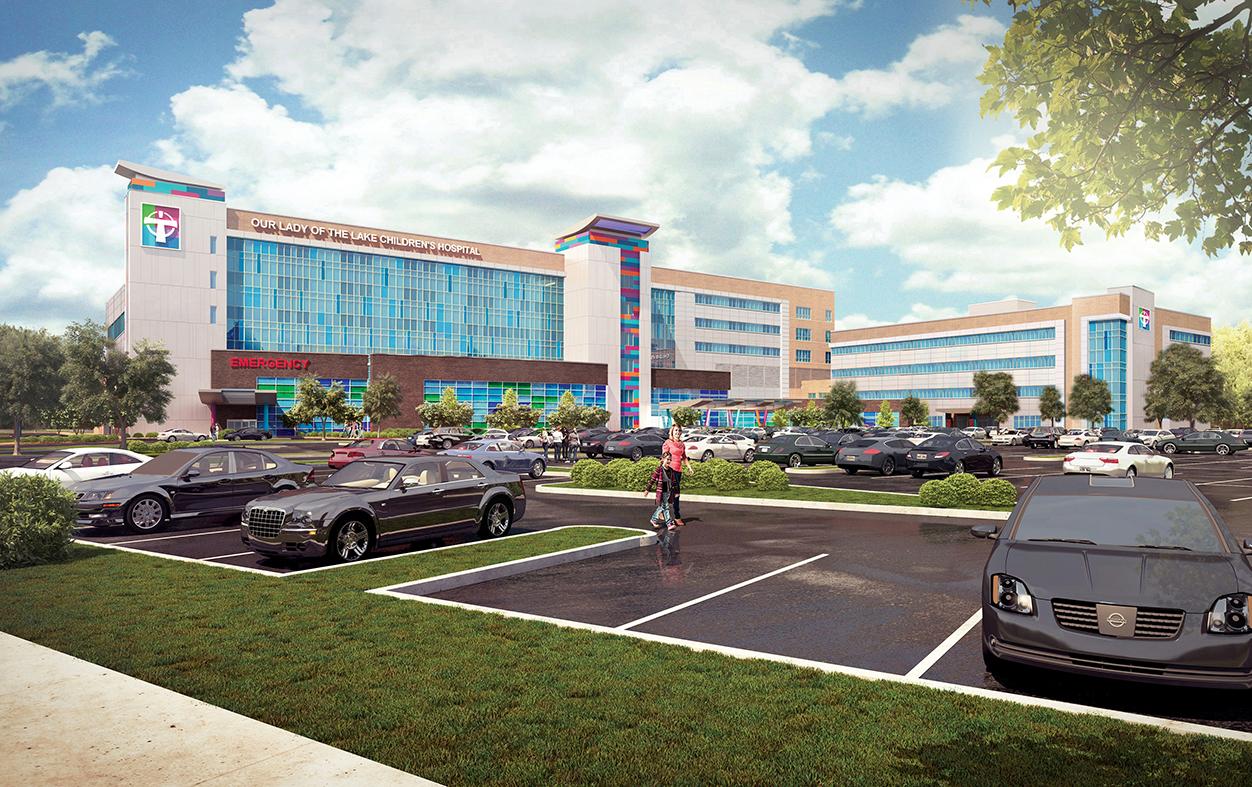 The planned Our Lady of the Lake Children's Hospital