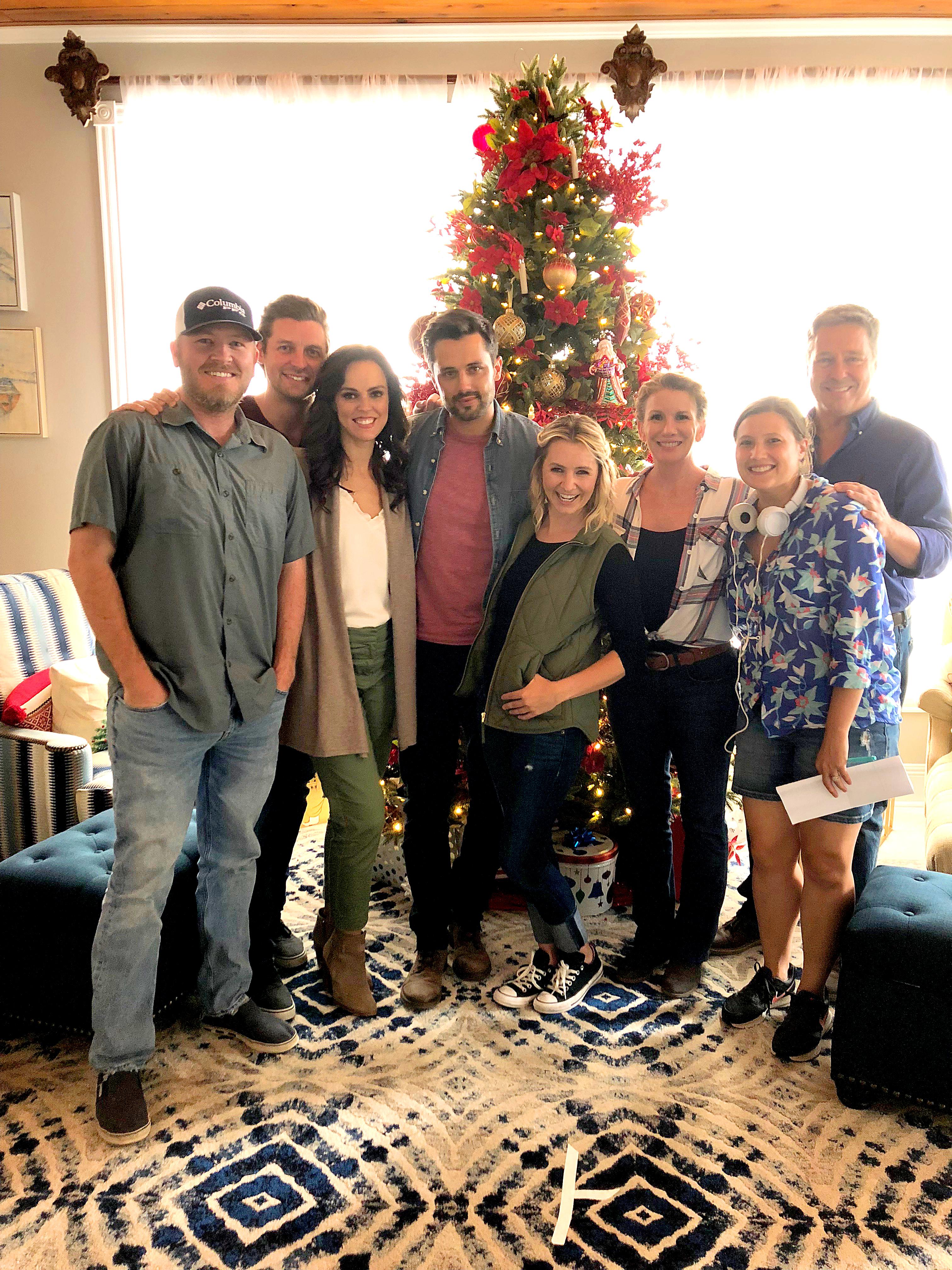 Christmas Under Wraps Cast.Festive Filmmaking Daniel Lewis Southern Set Tv Christmas