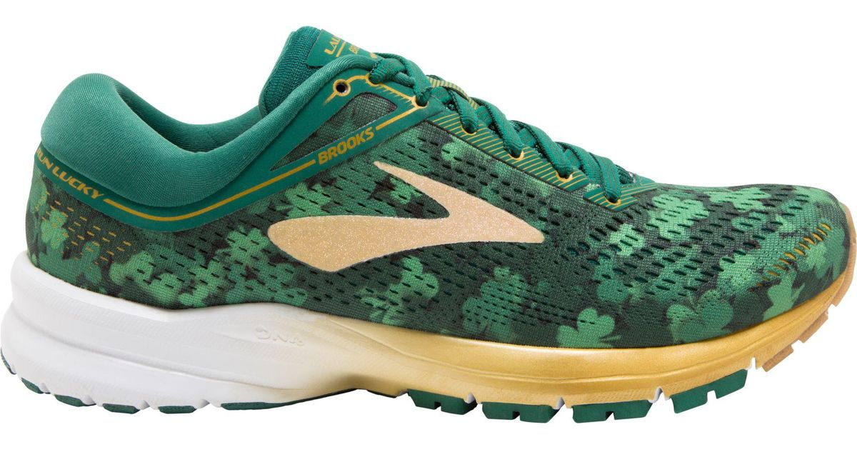 471bbe7984c9c Runners can complete their race looks with the limited edition St. Patrick s  Day running shoes by Brooks available now at Varsity Sports.